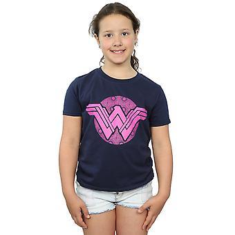DC Comics Girls Wonder Woman Pink Mosaic T-Shirt