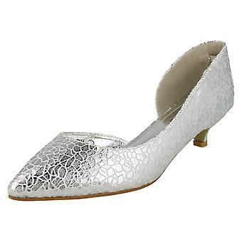 Sabana de damas corte lado zapatos de talón del gatito