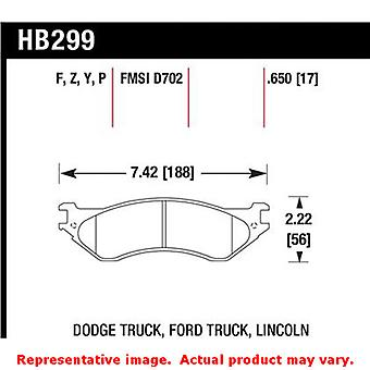 Hawk Truck/SUV Brake Pads HB299Y.650 Fits:DODGE 1998 - 1998 B1500  Position: Fr