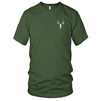Elk SKULL Embroidered Patch - Mens T Shirt