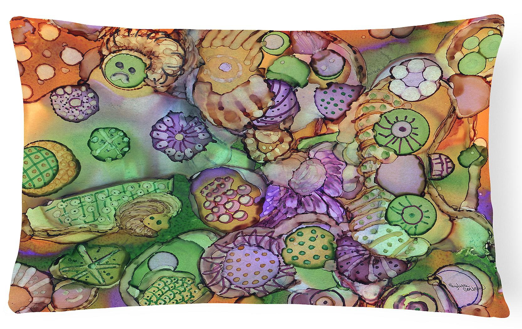 Violet Tissu Abstrait Vert Décoratif En Et Oreiller Orange ordCxeBW
