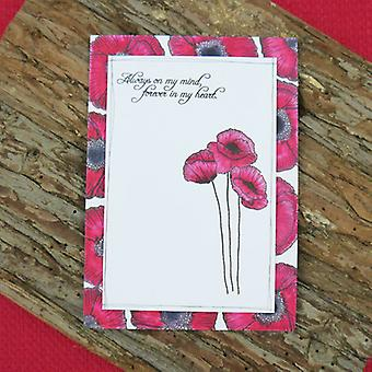 Hunkydory For The Love Of Stamps A6-Poppy Fields FTLS127