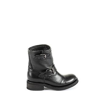 Ash women's TEARS01 black leather ankle boots