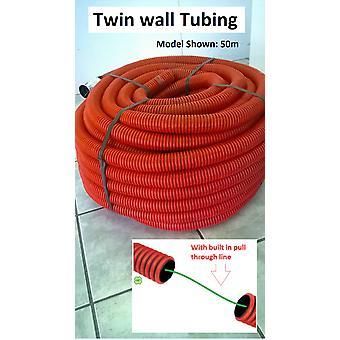 Flexibele gegolfde slang - 25 Meter Roll - Twin Wall - Trunking Conduit 40mm OD