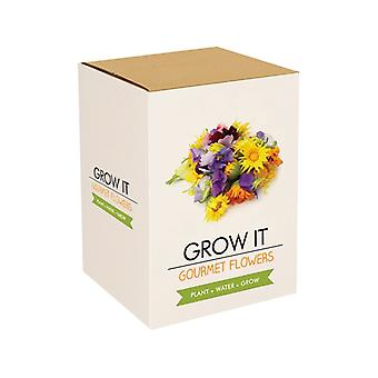 Grow it plant set edible flowers gift cultivation set