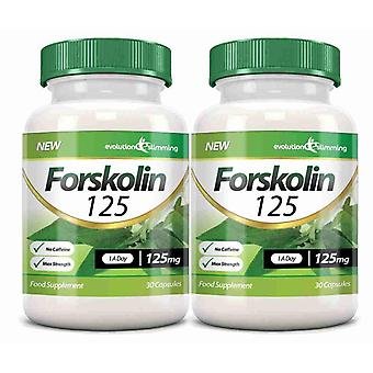 Forskolin 125 125mg Capsules - 60 Capsules - Fat Burner and Metabolism Booster - Evolution Slimming