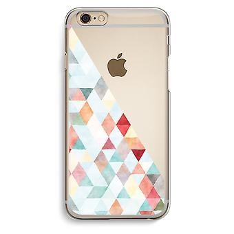 Custodia trasparente iPhone 6 6s (Soft) - triangoli colorati pastello