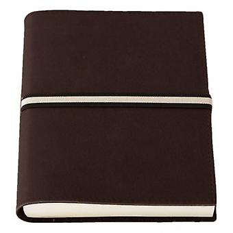 Coles Pen Company Abruzzi Medium Tie Lined Journal - Soft Chocolate Brown