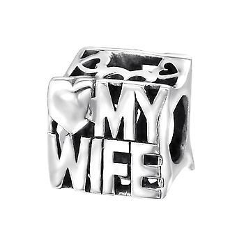 L'amour de ma femme - 925 Sterling Silver plaine Beads - W21760X