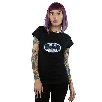 DC Comics Frauen Batman japanische Logo T-Shirt weiß