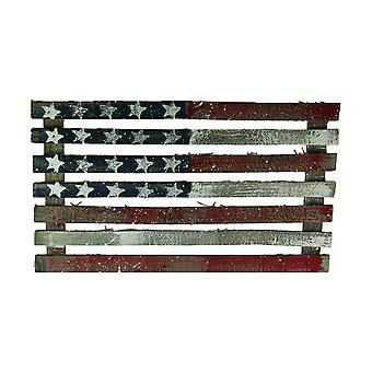 Hand Painted Recycled Wood American Flag Wall Hanging