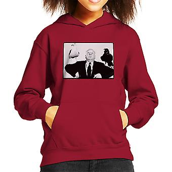 Alfred Hitchcock The Birds 1963 Crow Seagull Publicity Shoot Kid's Hooded Sweatshirt