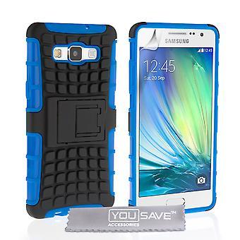 Yousave accesorios Samsung Galaxy A5 soporte caja combinada - azul / negro