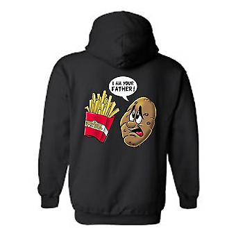 Men's/Unisex Zip-Up Hoodie  Funny Potato Fries: I Am Your Father!