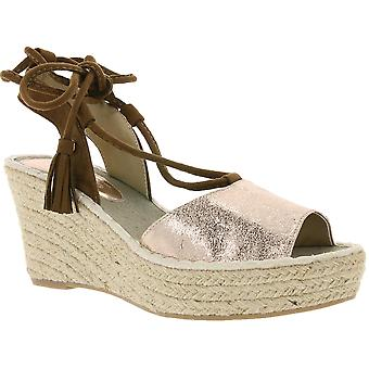 Tom tailor wedge Sandals ankle lacing Rosé gold
