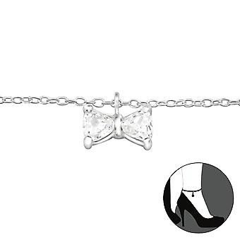 Bow - 925 Sterling Silver Anklets - W27647x