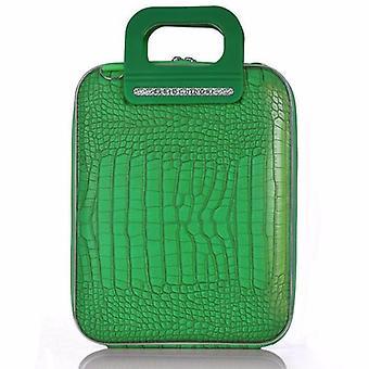 Cocco Bombata Briefcase for 12 inch laptop Siena by Fabio Guidoni - Emerald Green