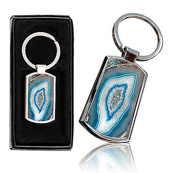 i-Tronixs - Premium Marble Design Chrome Metal Keyring with Free Gift Box (3-Pack) - 0059