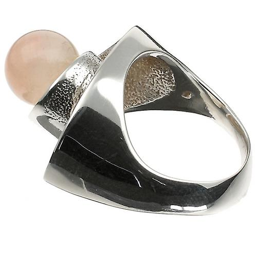Luxury Silver Ring Galaxy Rose Quartz