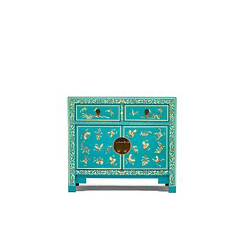 The Nine Schools Oriental Decorated Blue Sideboard - Baumhaus