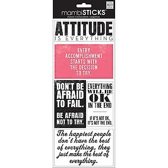 Sayings Stickers-Attitude Is Everything