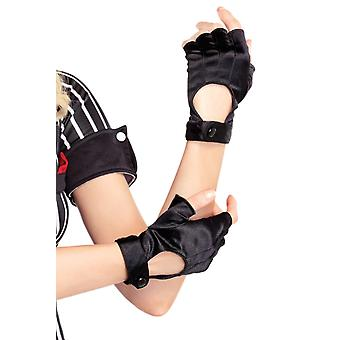 Sexy Fingerless Wrist Length Motorcycle Gloves