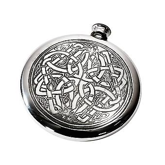 Celtic Circle Pewter Sporran Flask - 4oz