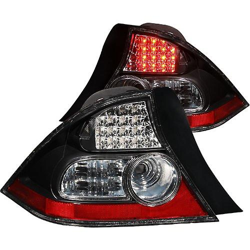 Anzo USA 321035 Honda Civic noir LED Tail Light Assembly - (Sold in Pairs)