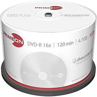 Blank DVD-R 4.7 GB Primeon 2761204 50 pc(s) Spindle Silver matte surface