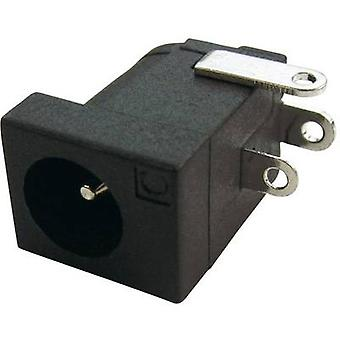 Cliff DC-10L Low power connector Socket, horizontal mount 4 mm 2.1 mm 1 pc(s)