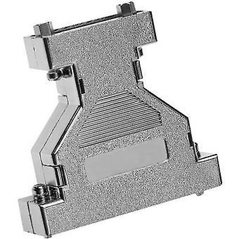 D-SUB adapter housing Number of pins: 15, 15 Plastic, metallised 180 °