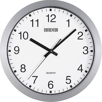 Eurochron A3199 Quartz Wall clock 30.5 cm x 3.8 cm Silver