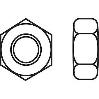 TOOLCRAFT 888121 Sekskantet nøtter M6 DIN 934 rustfritt stål A2 10 eller flere PCer