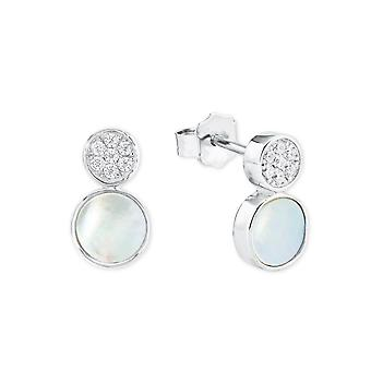 s.Oliver jewel ladies earrings cubic zirconia silver mother of Pearl 2022751