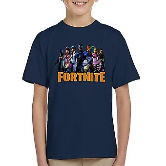 Fortnite Character Montage Kid's T-Shirt
