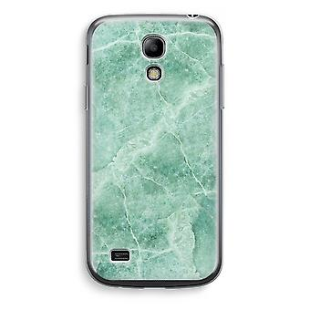 Samsung Galaxy S4 Mini Transparent Case - Green marble