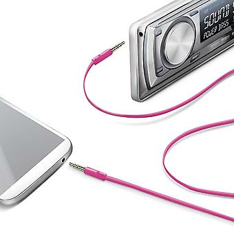 Celly Premium Stereo Audio Auxiliary / Aux Cable 3.5mm - Pink