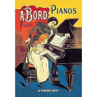 An advertising poster from France entitled The First Lesson  Antonie Bord was one of Frances most popular piano manufacturers building pianos by the thousands annually Bord was established in Paris in