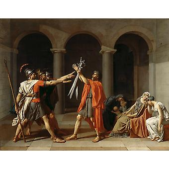 THe Oath of the Horatii,Jacques-Louis David,50x40cm