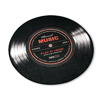Record music carpet small vinyl black, 100% polyester with cotton trim, with the back of the pimples.
