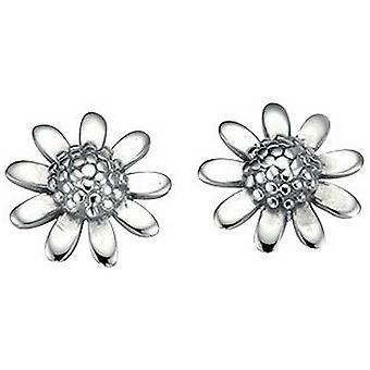 Beginnings Flower Stud Earrings - Silver