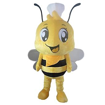 mascot SPOTSOUND to bee yellow and black, with a cap on the head
