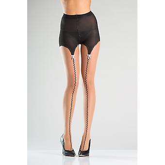 Tights With Suspender Belt Look And Bow Ties
