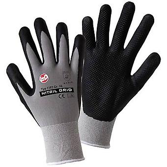 L+D worky NITRIL GRID 1167 Nylon Protective glove Size (gloves): 9, L EN 388:2016 CAT II 1 pair
