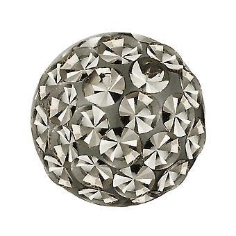 Ersatz-Ball, Körperschmuck Piercing, Multi Kristall Steinen Black Diamond   4, 5 und 6 mm