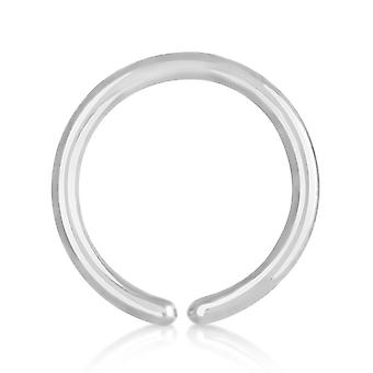 Nose Hoop Ring Titanium 0,8 mm, Open Nose Hoop Ring   6 - 10 mm