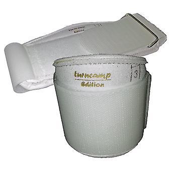 Handgelenkstütze PRO, aus Synth.-Leder mit Softpolsterung u. starrem Klettstützband  (Paar)