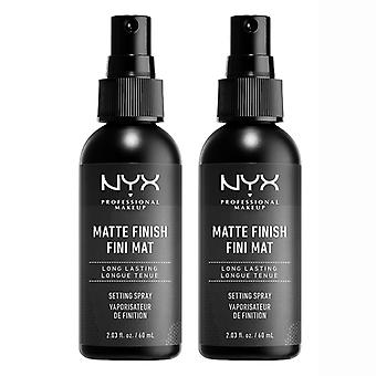 2-pack NYX Prof. maquillage mat finition mise en Spray