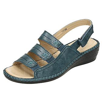 Ladies Eaze Comfort Wedge Sandals
