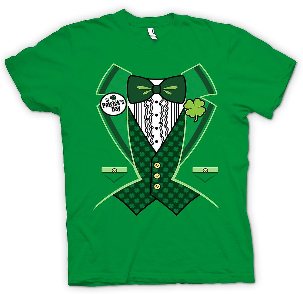 Herr T-shirt - St Patricks Day - grön smoking